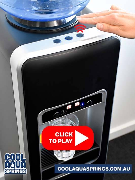 Watch video instructions on how the touchless water cooler and dispenser for Melbourne and Gippsland is easy to use