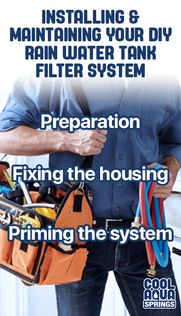 Installation of DIY rainwater tank filter system for Morwell, Traralgon, Maffra and throughout Gippsland
