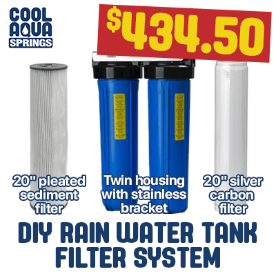 Rainwater tank filtration system for whole house with outdoor water tank filters that is do it yourself (DYI) for Morwell, Traralgon, Maffra and throughout Gippsland