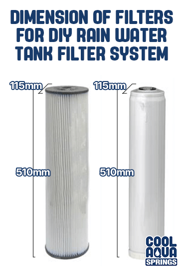 Dimension of filters for DIY rainwater tank filter system for Morwell, Traralgon, Maffra and throughout Gippsland